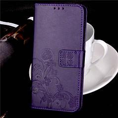 Чехол Книжка для Lenovo A7000 / K3 Note / K50 кожа PU Clover фиолетовый