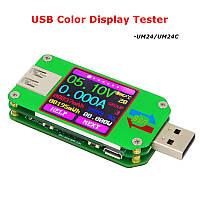 Тестер RD UM24C для проверки USB потребления и емкости устройств, а также характеристик USB кабелей, фото 1