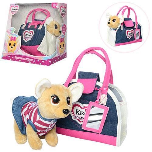 Интерактивная собачка Кикки 3218 с модной сумочкой: 25см, звук