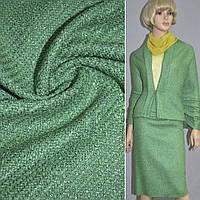 Букле ткань костюмная шанель зеленая