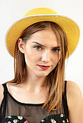 Шляпа Канотье желтая