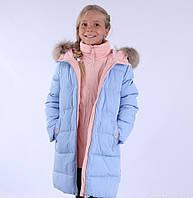 Детское зимнее пальто для девочки ANERNUO 17159, 130-170