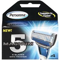 Personna Magnum 5 сменные картриджи, 4 шт