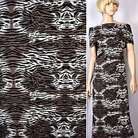 Коттон хлопоковая ткань хлопок Жаккард жаккардовая ткань в черный  белый зеленый принт тигра ш.148 ткань