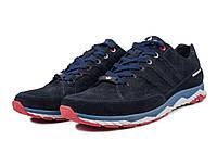 Мужские модные кроссовки Adidas Porsche, натуральная замша  , синие, фото 1