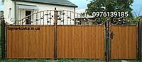 Ворота закрытые профнастилом  6225