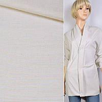 Рубашечная ткань зеленый бледный в белую полосу 1*1мм ш.145 ткань