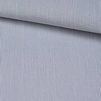 Поплин рубашечный в белую, голубую мелкую полоску 1мм ш.143