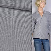 Рубашечная ткань в серую белую полосу 0 5*0 5мм ш.145 ткань