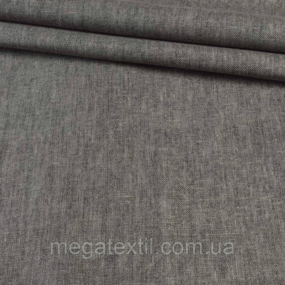 Лен льняная ткань (льняная ткань) коттон хлопковая ткань хлопок серый, ш.145 - Интернет магазин тканей Мегатекстиль в Запорожье