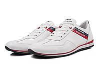 Мужские модные кожаные кроссовки Hilfiger ,белые, фото 1