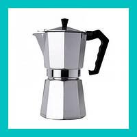 Гейзер кофеварка UNIQUE UN-1913 (KP1-9) алюминий