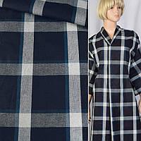 Двухслойный синий Джинсовая ткань джинса деним с Коттон хлопок тканьом шотландкой ш.150
