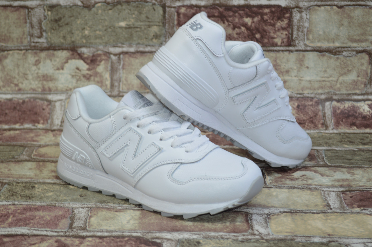 Женские Кроссовки New Balance 1400 Нью Беланс Белые Кожаные — в Категории