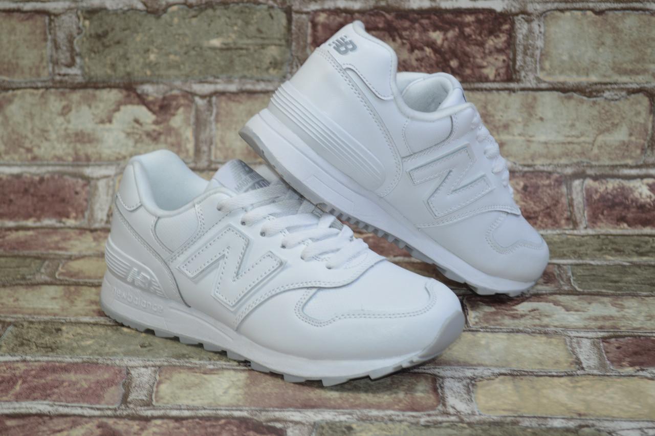 e9d845d2 Женские кроссовки New Balance 1400 Нью Беланс белые кожаные - Shoes-style в  Киеве