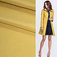 Костюмная ткань стрейч поливискоза грязно-желтая ш.150 для костюмов юбок брюк теплая костюмная
