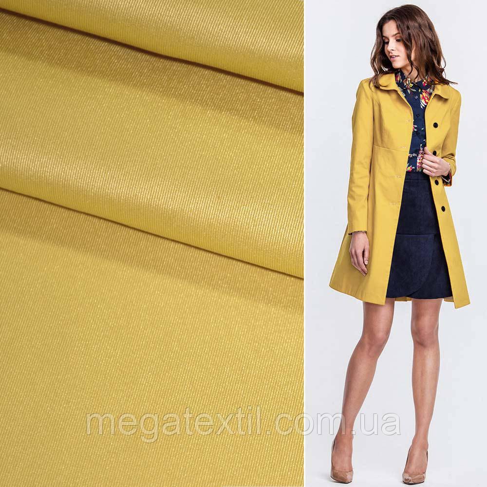 Костюмная ткань стрейч поливискоза грязно-желтая ш.150 для костюмов юбок брюк теплая костюмная - Интернет магазин тканей Мегатекстиль в Запорожье
