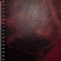 Замша искусственная бордо на флисе ткань