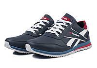 Мужские модные кожаные кроссовки Reebok ,синие, фото 1