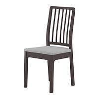 "IKEA ""ЭКЕДАЛЕН"" Стул, темно-коричневый, Оррста светло-серый"
