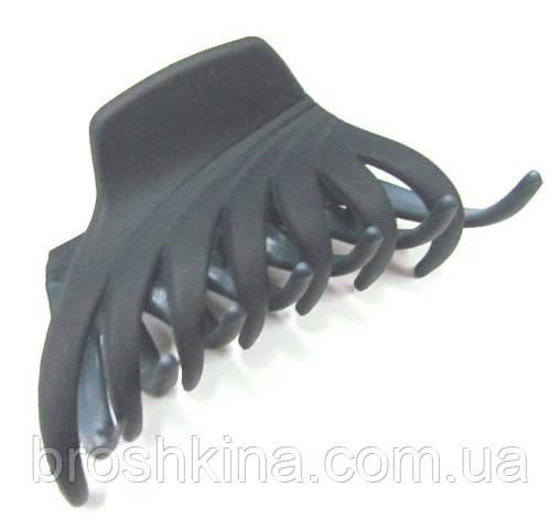 Заколка-краб для волос каучук L 8,5 см синяя