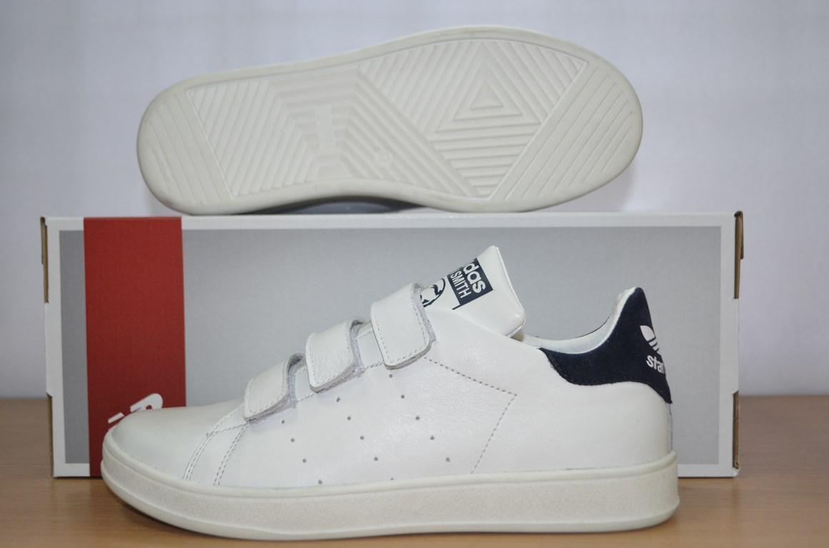 f9de0f9fc4a0 Кроссовки Adidas Stan Smith белые на липучке.  продажа, цена в ...