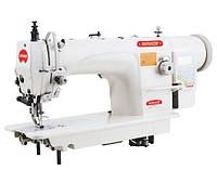 Прямострочная машина автомат для тяжёлых материалов с шагающей лапкой BRUCE 6380E-3B