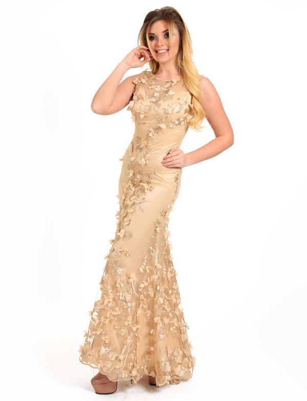 Платье женское капучино вечернее  ENIGMA MKENG 2116