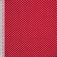Микровельвет, вельвет красный с белыми птичками ширина 110 см хлопок 100% ткань детский вельвет с рисунком