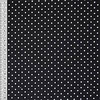 Микровельвет, вельвет черный в белый горошек ширина 110 см хлопок 100% ткань детский вельвет с рисунком