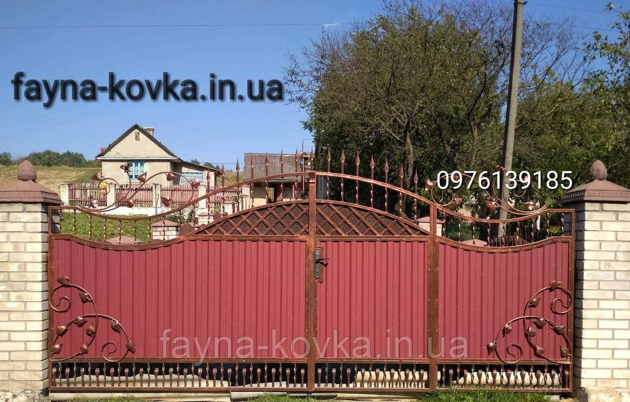 Кованые ворота 9555