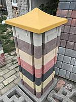 Кирпич облицовочный фасонный  капля