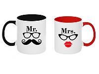 Парные чашки Mrs и Mr