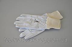 Перчатка кожа серая 001