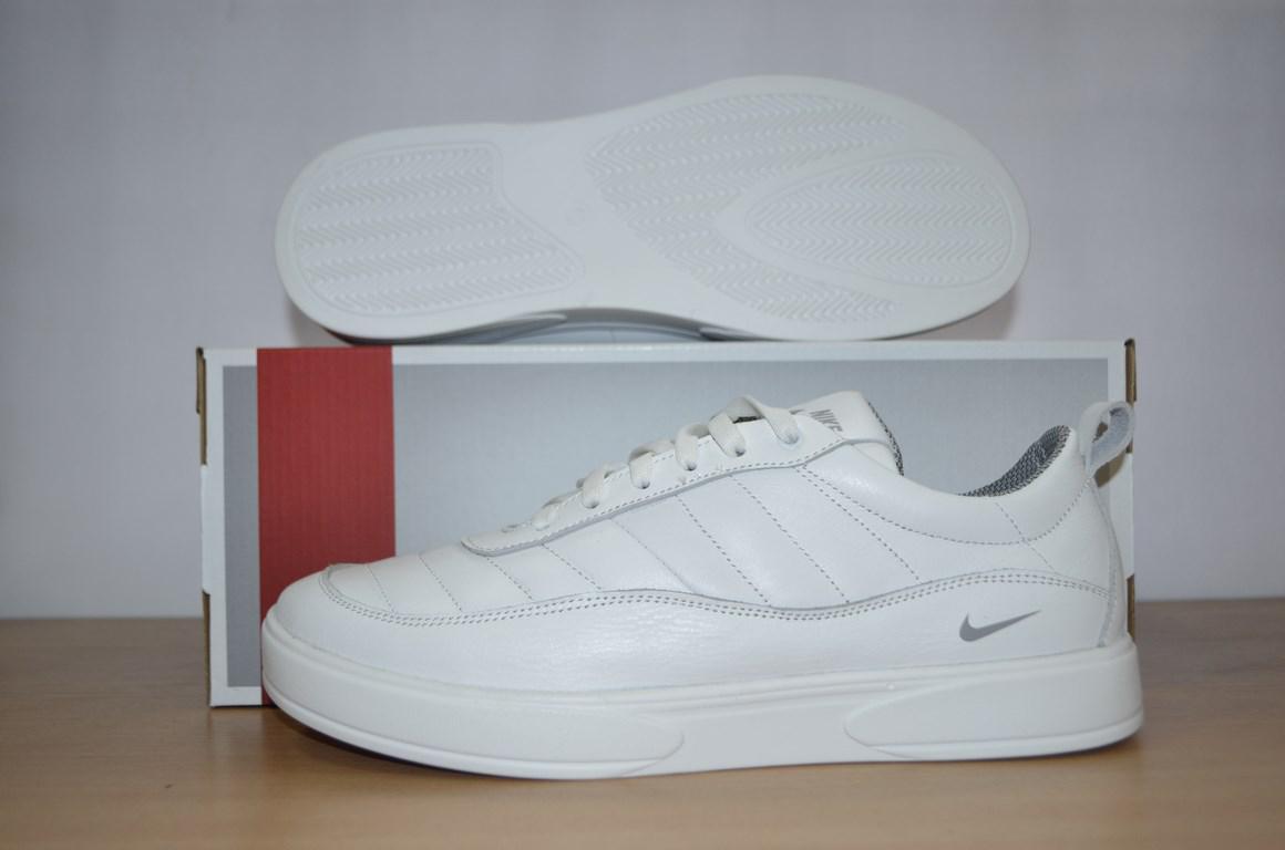 Кожаные кроссовки Nike.Кеды мужские Nike белые.  продажа, цена в ... 240fa5ed3d4