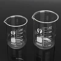 2 штук стеклянный стакан боросиликатного мерную 400мл & 600мл для лаборатории