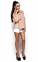 S-M / Женская свободная блузка Alina, бежевый