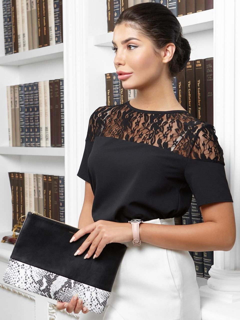 Молодежная женская блузка May, черный