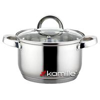 Кастрюля из нержавеющей стали с крышкой Kamille (5622S) 4.5л