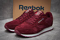 Спортивные мужские кроссовки Reebok Classic, бордовые, замша