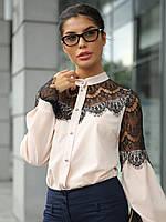 XS, S, M, L, XL / Женская блузка з гіпюром Gilmor, персик
