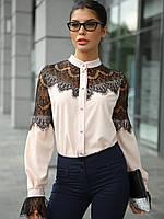 XS, S, M, L, XL / Женская блузка з гіпюром Gilmor, бежевый XL