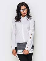 S, M, L, XL, XXL / Женская рубашка с прорезями Verona, белый