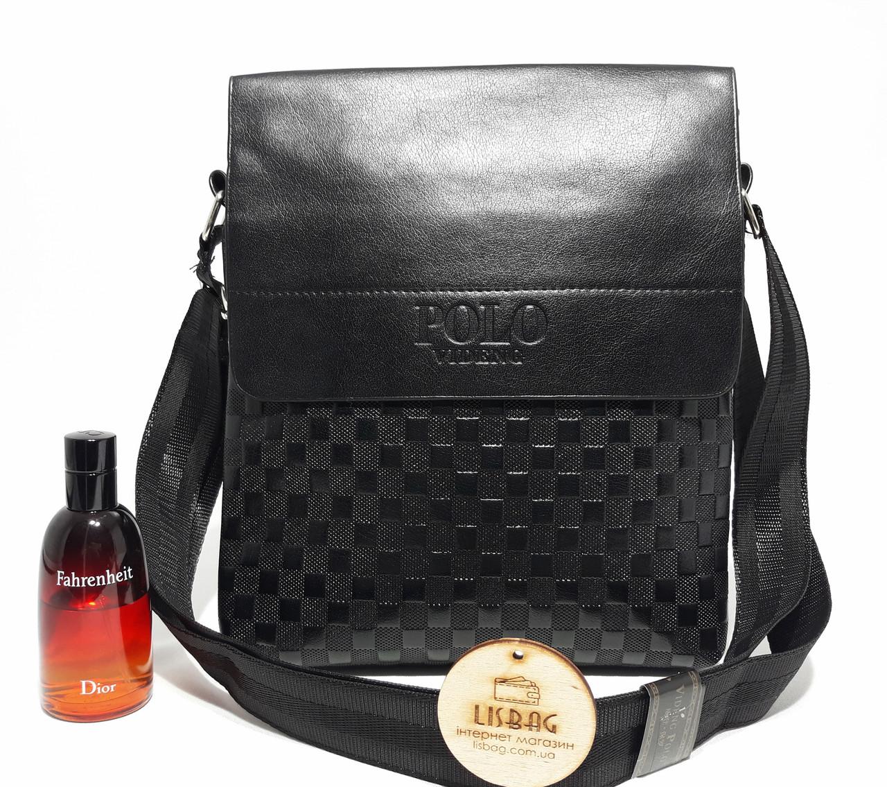 Мужская сумка через плече Polo черная