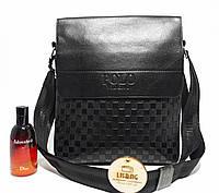 Мужская сумка через плече Polo черная, фото 1