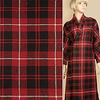 382277492 - Шотландка красная в черно-белую клетку, ш.150