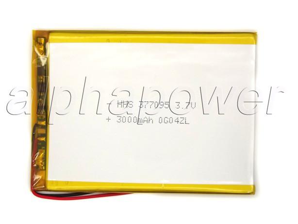 Аккумулятор 3000mAh 3.7v 357095 для планшетов  Jeka JK-703 3G