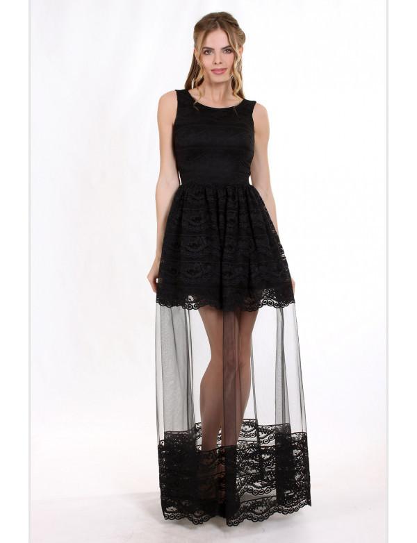 Плаття жіноче вечірнє чорне ENIGMA MKENG2219