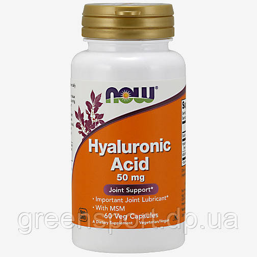 Гиалуроновая кислота Now Foods Hyaluronic Acid 50 мг (60 капсул)