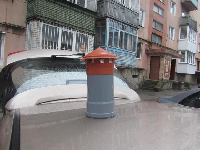 Оранжевый грибок вентиляционный на трубу 110 мм